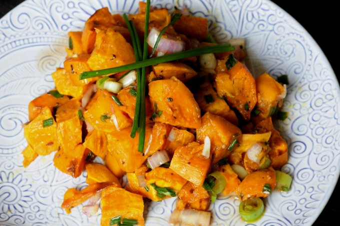 Cold Sweet Potato Salad Recipe - Vegan Family Recipes