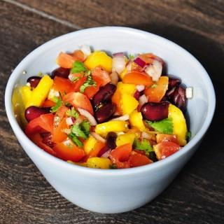 Fast Mango Bean Salsa