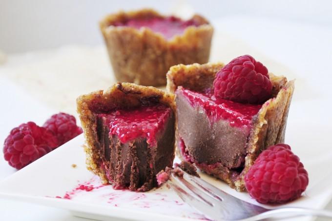 Mini Raspberry Chocolate Cake Recipe - Vegan Family Recipes