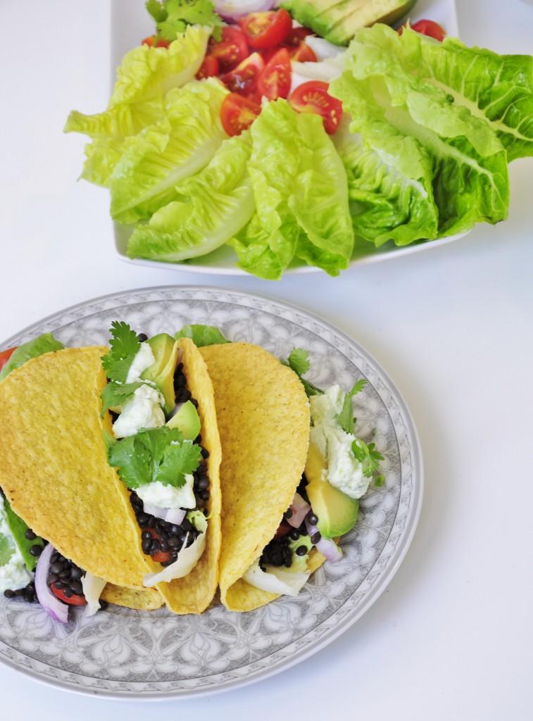 Beluga Black Lentil Tacos - Vegan Family Recipes
