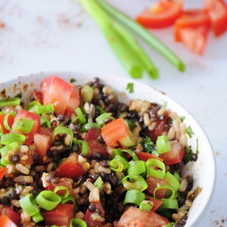 Beluga Black Lentil Salad with Rice