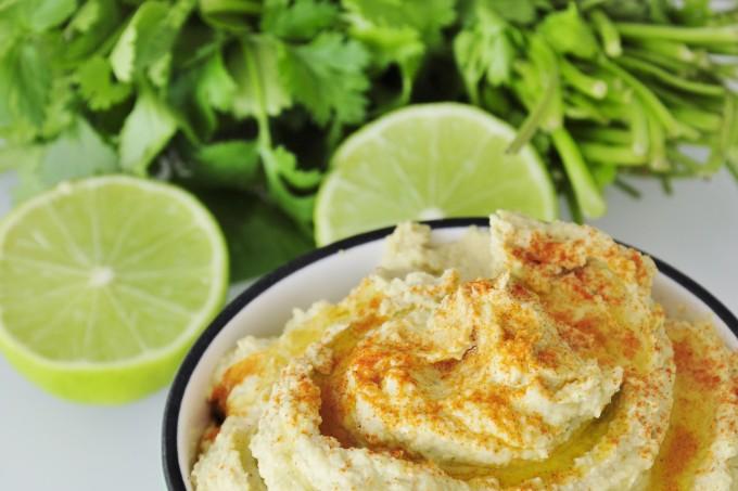 Lime Cilantro Hummus Recipe - Vegan Family Recipes