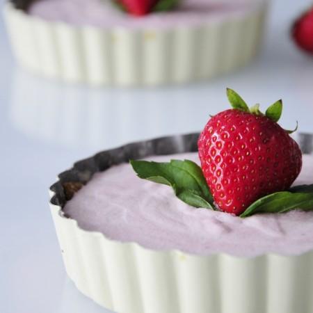 Mini Coconut Strawberry Tart Recipe - Vegan Family Recipes