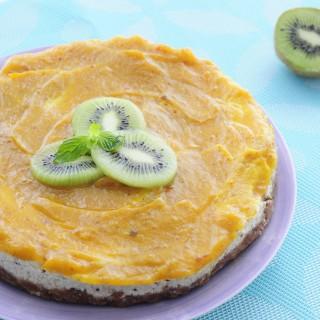 Vegan Kiwi Mango Cheesecake