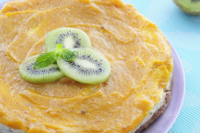 Kiwi Mango Tropical Cheesecake Recipe - Vegan Family Recipes