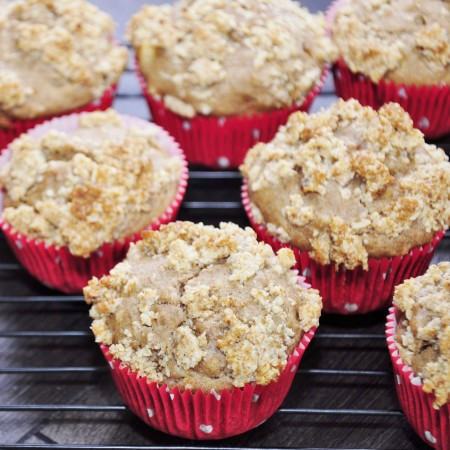 Healthy Apple Banana Muffins Streusel Recipe - Vegan Family Recipes