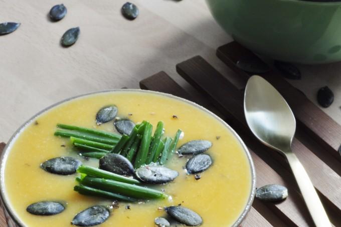 Cauliflower Sweet Potato Soup Recipe - Vegan Family Recipes