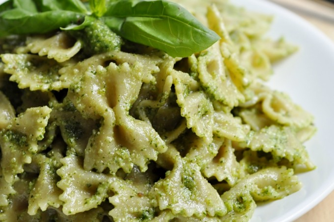 Basil Cilantro Pesto Pasta Recipe - Vegan Family Recipes