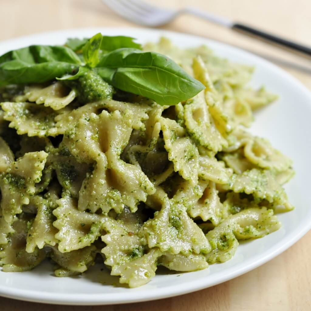 Cilantro Basil Pesto Pasta - Vegan Family Recipes