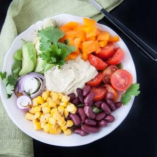 Mexican Hummus Salad