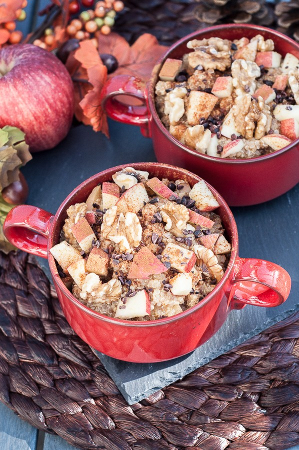 Apple Walnut Quinoa Breakfast Bowl