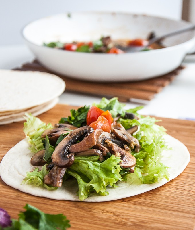 Vegan Mushroom tacos recipe healthy gluten-free taco sauce - vegan family recipes
