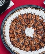 Raw Vegan GF Paleo Chocolate Caramel Pecan Pie Recipe - Vegan Family Recipes