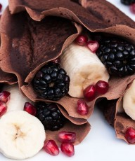 Easy Vegan Crepes Chocolate Recipe #breakfast #am #healthy