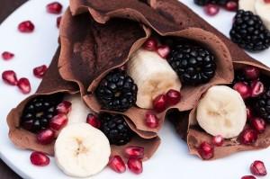 Easy Vegan Crepes Chocolate Recipe #breakfast #am #healthy