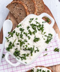 Vegan Cottage Cheese Recipe |VeganFamilyRecipes.com | #glutenfree #appetizer #dip
