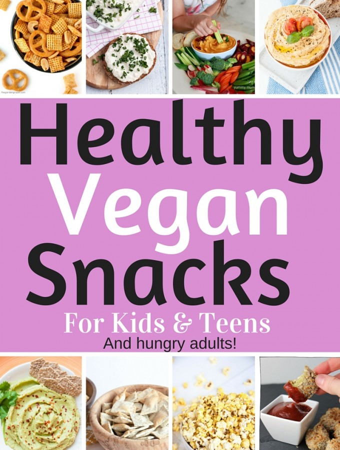 Healthy Vegan Snacks for Kids & Teens (Savory Edition!) #snack #dip #veggies