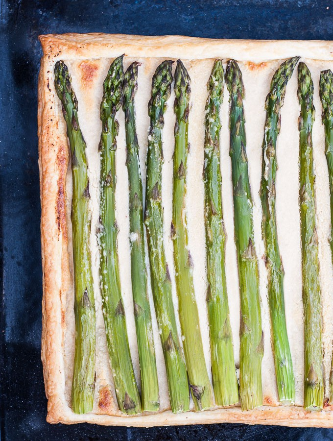 Lemon Asparagus Tart Recipe - Vegan Family Recipes - #spring #dinner