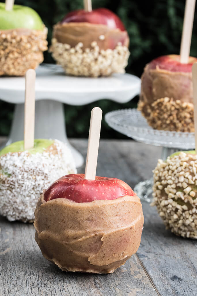 Raw Vegan Caramel Apples - Vegan Family Recipes