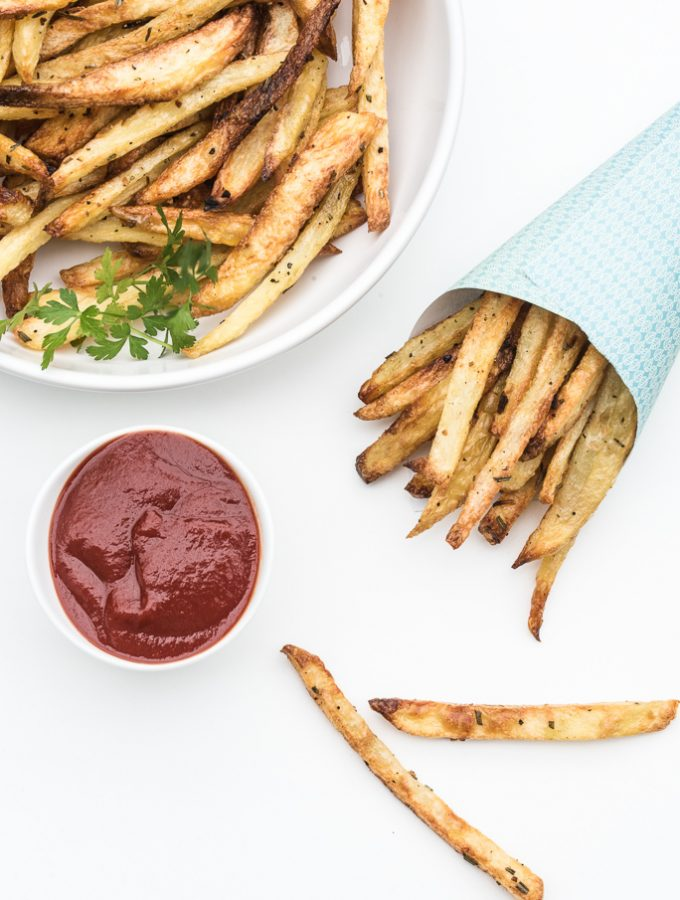 Rosemary Garlic Fries – SUPER Crispy!